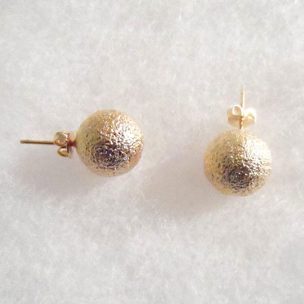 Ann Marie Lindsay Triple Layer Gold Large Stud Ball Earrings