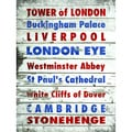 Stephanie Marrott 'London's Famous Places' Vertical Paper Print (Unframed)