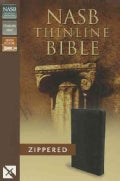 Holy Bible: New American Standard Bible, Thinline, Black Bonded Leather, Zipper Closure (Paperback)