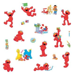Sesame Street Elmo-centric Peel & Stick Wall Decals