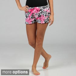 Stanzino Women's 'Love' Print Plush Shorts