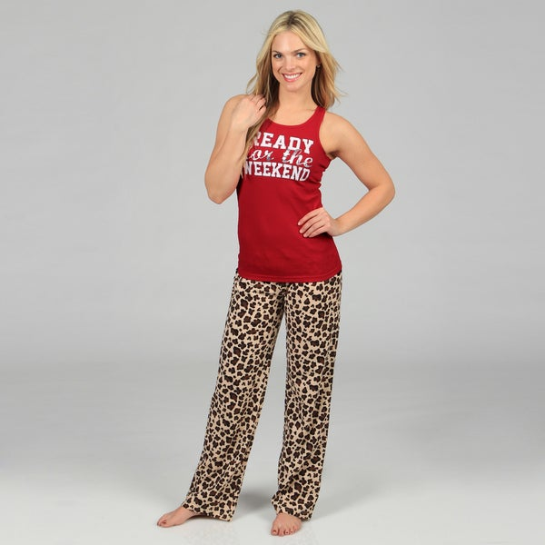 Stanzino Women's 'Ready for the Weekend' Animal Printed Loungewear Set