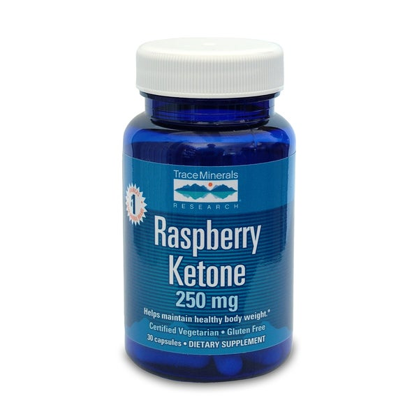 Trace Minerals Raspberry Ketone 250 mg Dietary Supplement (30 Capsules)