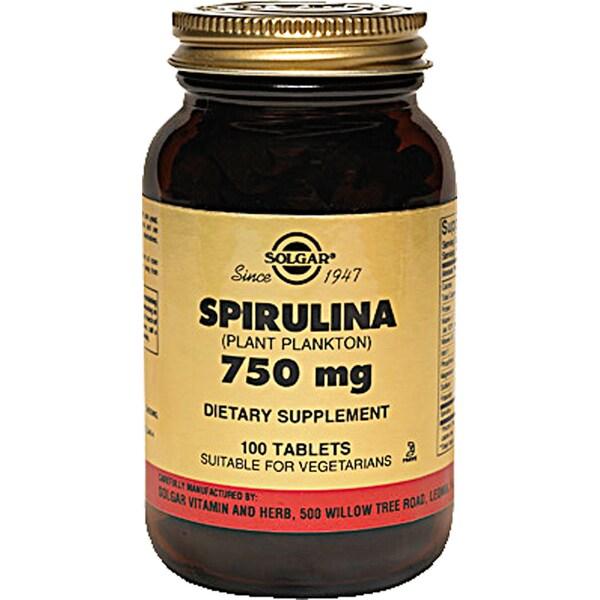 Solgar 750 mg Spirulina (100 Tablets)