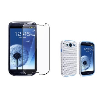 BasAcc Blue/ White Hybrid Case/ Protector for Samsung Galaxy S III/ S3