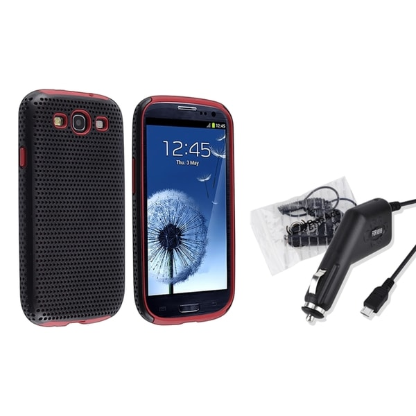BasAcc Hybrid Case/ Car Charger for Samsung Galaxy S III/ S3