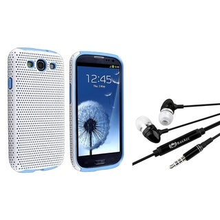 BasAcc Blue/ White Hybrid Case/ Headset for Samsung Galaxy S III/ S3