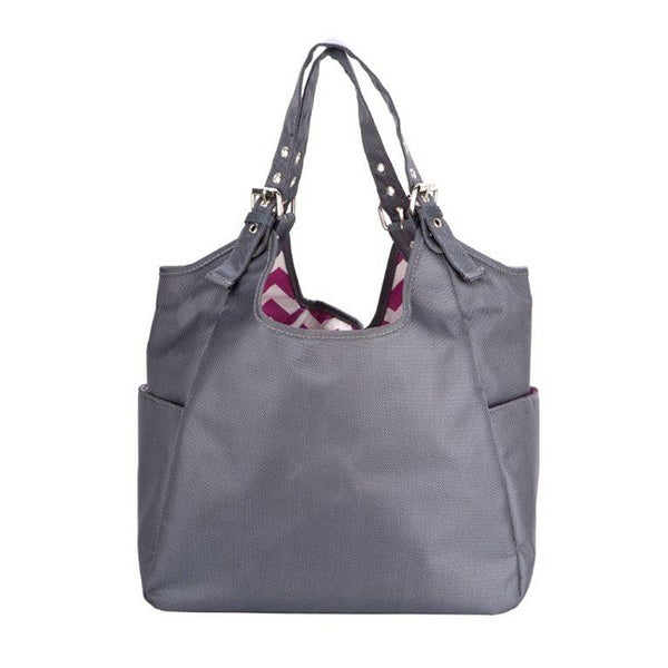 JP Lizzy Graphite Blush Satchel Diaper Bag