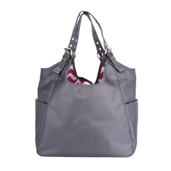 JP Lizzy Graphite Blush Satchel Diaper Bag
