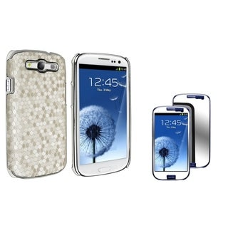 BasAcc Leather Case/ Mirror LCD Protector for Samsung Galaxy S III/ S3