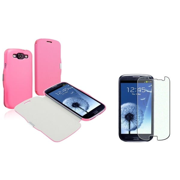 BasAcc Pink Case/ Diamond LCD Protector for Samsung Galaxy S III/ S3