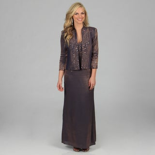 Karen Miller Women's' Formal Embellished Jacket and Long Dress Set