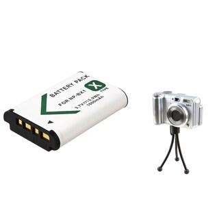 INSTEN Battery/ Mini Tripod for Sony Cybershot DSC-RX100