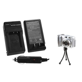 BasAcc Battery Charger/ Mini Tripod for Sony CyberShot DSC-RX100