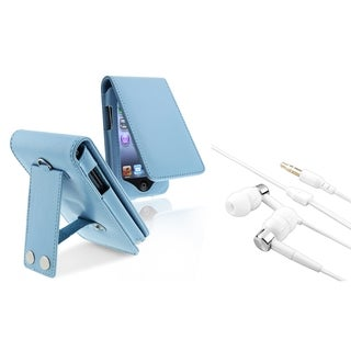 BasAcc Blue Case/ Headset for Apple iPod Touch Generation 2/ 3