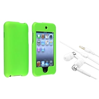 INSTEN Green iPod Case Cover/ Headset for Apple iPod Touch Generation 2/ 3