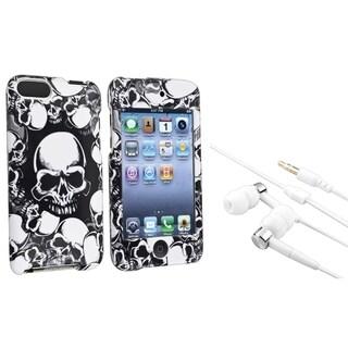INSTEN White Skull iPod Case Cover/ Headset for Apple iPod Touch Generation 2/ 3