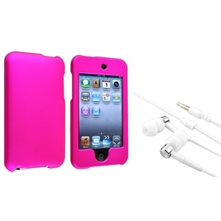 INSTEN Hot Pink iPod Case Cover/ Headset for Apple iPod Touch Generation 2/ 3