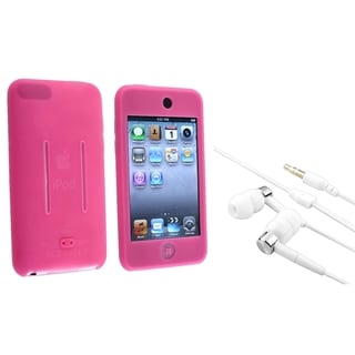 INSTEN Soft Silicone iPod Case Cover/ Headset for Apple iPod Touch Generation 1/ 2/ 3