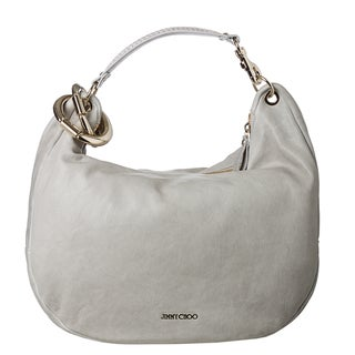 Jimmy Choo 'Solar' Pearl Grey Calf Leather Hobo Bag