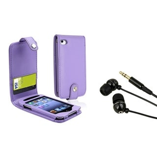 BasAcc Purple Case/ Headset for Apple iPod Touch 4th Generation