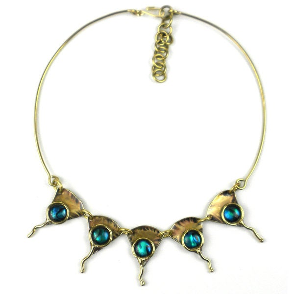 Handcrafted Paua Ocean Necklace (South Africa)