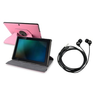 BasAcc Swivel Leather Case/ Headset for Asus Eee Pad Transformer TF101