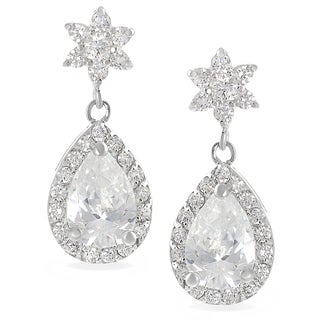 Tressa Collection Sterling Silver Cubic Zirconia Drop Earrings