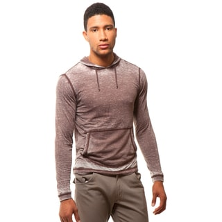 191 Unlimited Men's Slim Fit Draw String Burnout Hoodie