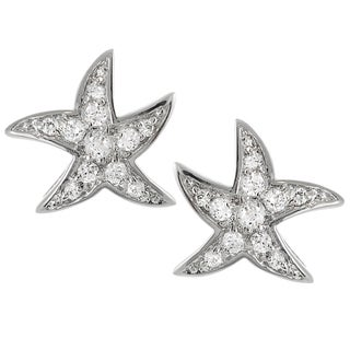 Tressa Collection Sterling Silver Cubic Zirconia Starfish Stud Earrings