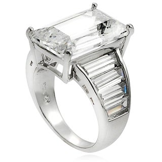 Tressa Sterling Silver CZ Celebrity-inspired Bridal-style Ring