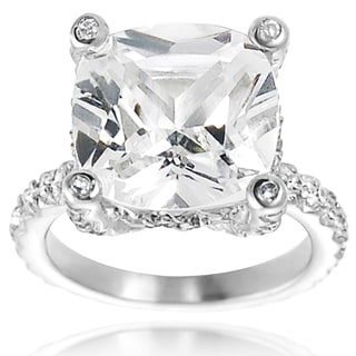 Tressa Sterling Silver Cubic Zirconia Celebrity-inspired Bridal-style Ring
