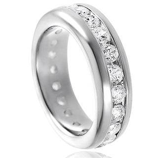 Journee Collection Sterling Silver Clear Channel-set Cubic Zirconia Engagement-style Ring