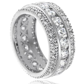 Tressa Sterling Silver Channel-set Cubic Zirconia Engagement-style Ring
