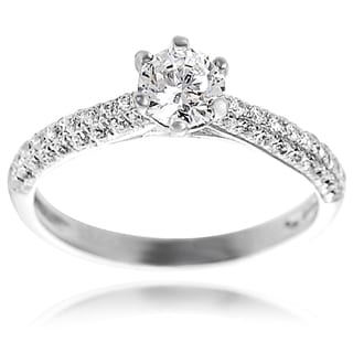 Tressa Sterling Silver Cubic Zirconia Bridal and Engagement-Style Ring