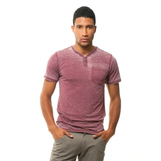 191 Unlimited Men's Slim Fit Burnout Henley Tee