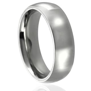 Journee Collection Stainless Steel Wedding Band (6 mm)