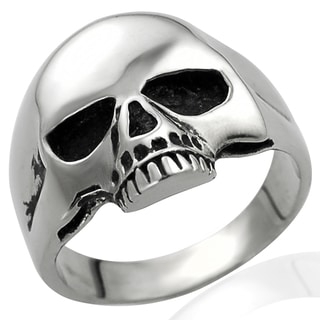 Vance Co. Collection Stainless Steel Men's Skull Ring