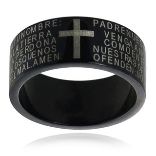 Vance Co. Collection Stainless Steel Cross Band (8 mm)
