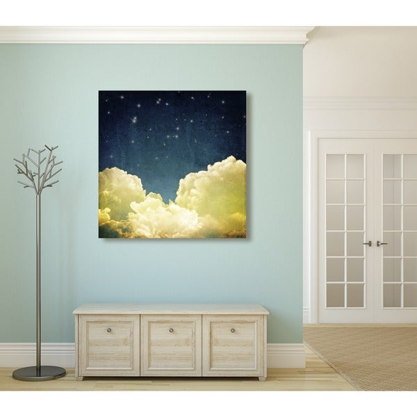 Sleepy Clouds II Contemporary Oversized Gallery-Wrapped Canvas