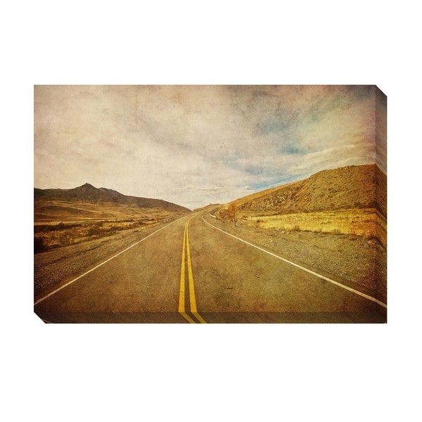 On The Road Oversized Gallery Wrapped Canvas