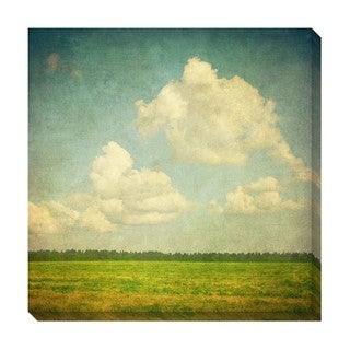 Field Clouds Oversized Gallery Wrapped Canvas