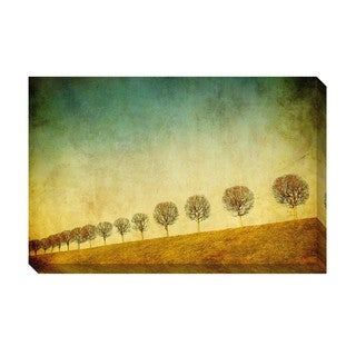 Gallery Direct Row of Trees II Oversized Gallery Wrapped Canvas