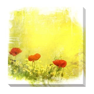 Gallery Direct Poppies Oversized Rectangular Gallery Wrapped Canvas