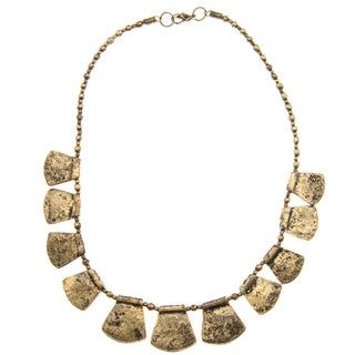 Goldtone Tab Egyptain Style Necklace (India)