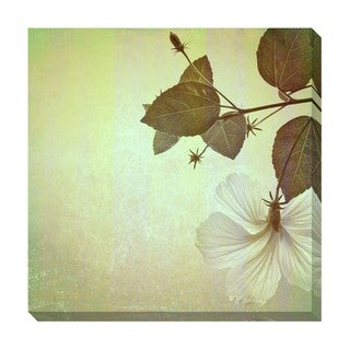 Gallery Direct Hibiscus Flower Pattern II Oversized Gallery Wrapped Canvas