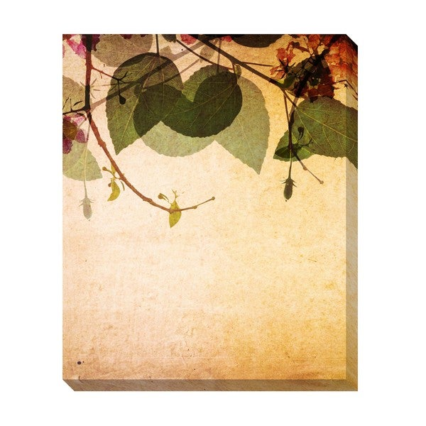 Leaves Pattern Oversized Gallery Wrapped Canvas