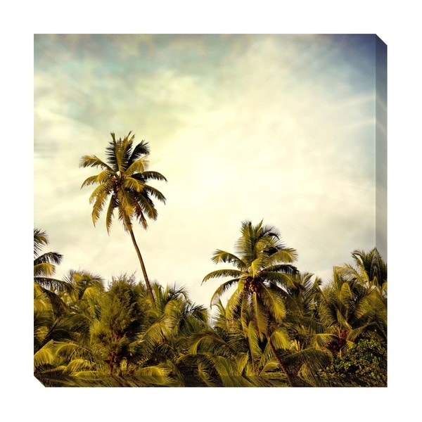 Palm Tops Oversized Gallery Wrapped Canvas