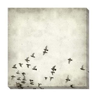 Fly Black and White Oversized Gallery Wrapped Canvas