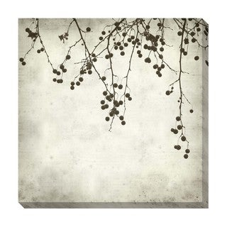 Berries I Black and White Oversized Gallery Wrapped Canvas